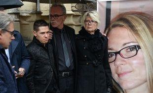 Jonathann Daval aux funérailles de sa femme, Alexia, en novembre 2017.