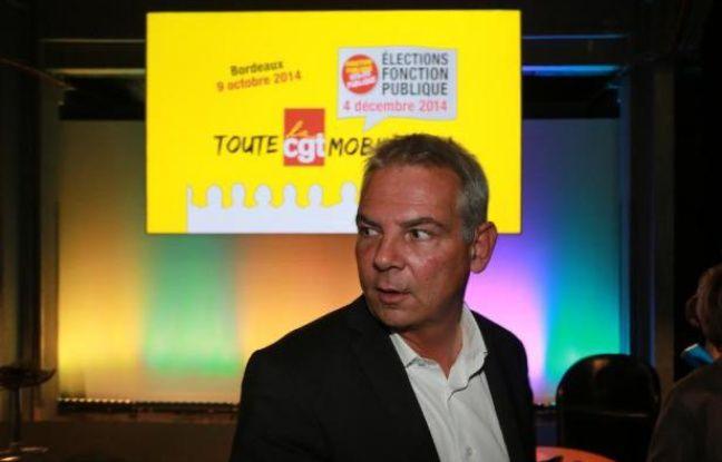 b2037398113 Le secrétaire général de la CGT Thierry Lepaon à Bordeeaux