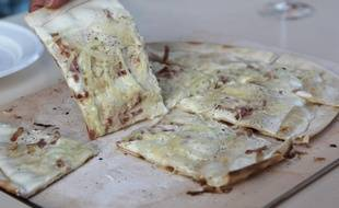 Alsace: Le record de la plus longue tarte flambée au monde battu (Illustration)