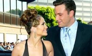 Les stars Jennifer Lopez et Ben Affleck au temps de leurs fiançailles en 2003