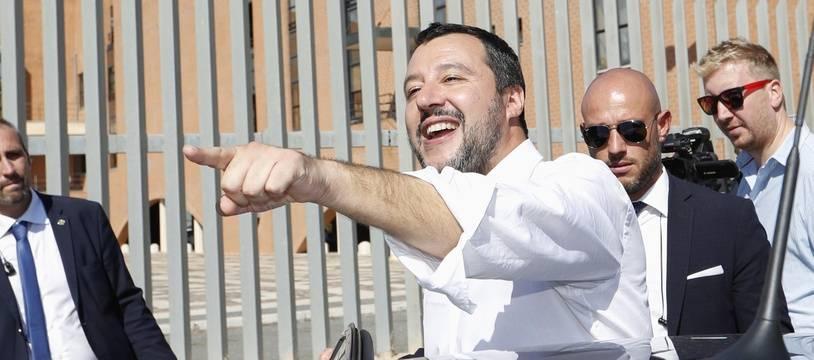 Le vice Premier ministre et ministre de l'Intérieur italien, Matteo Salvini.