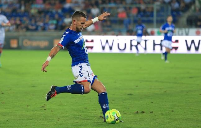 Strasbourg le 12 septembre 2016. RCSA vs Troyes à la Meinau. Anthony Gonçalves.