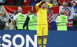 Hugo Lloris après sa boulette en finale de la Coupe du monde remportée par les Bleus contre la Croatie, le 15 juillet 2018.