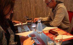 Au restaurant Max à Table!, les tables tactiles permettent de choisir et commander le menu