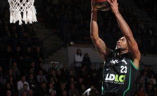 L'ailier villeurbannais David Lighty, ici lors d'un match à Nancy en décembre 2014, a cumulé 7 points et 3 passes décisives samedi à Limoges.