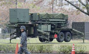 Un système sol-air PAC-3 déployé au Japon pour se prémunir d'un possible lancer de missile nord-coréen, à Tokyo le 14 avril 2016.
