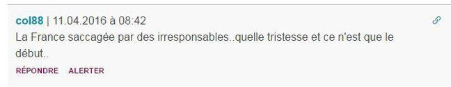 Sous l'article «#NuitDebout: Le mouvement peut-il être déstabilisé par les violences de ce week-end?»