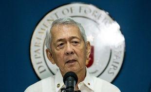 Le ministre philippin des Affaires étrangères, Perfecto Yasay, le 12 juillet 2016 à Manille