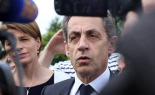 Nicolas Sarkozy, ici lors de sa venue à Chartres-de-Bretagne, près de Rennes, le 26 juin 2016.