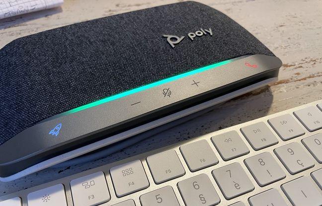 A la maison, Sync 20 se place simplement devant le clavier de son ordinateur.
