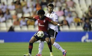 Le Losc de Ryan Mendes s'incline 2-0 sur la pelouse de Valence en Ligue des champions, au stade de Mestalla, le 2 octobre 2012.