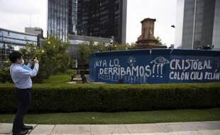 La statue de Christophe Colomb avait été détériorée durant une marche féministe, en octobre 2020.