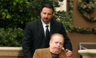 Le magnat du porno Larry Flint à Beverly Hills.