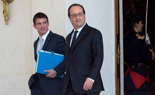 Manuel Valls, Premier ministre, et François Hollande, président de la République, le 22 juin 2016 à l'Elysée.