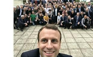 Capture d'écran du compte Twitter d'Emmanuel Macron