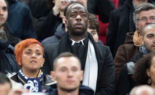 Souleymane Diawara, lors d'un match de l'équipe de France de foot.