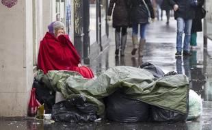 Le 27 janvier 2013. Une personne sans domicile fixe. Illustration. A.Gelebart/ 20 Minutes