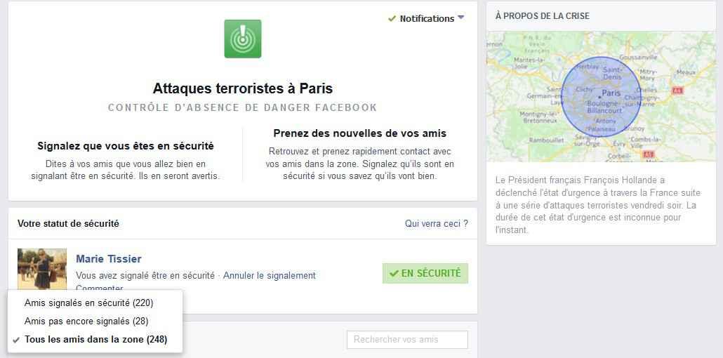 Attentat Facebook: Facebook Active De Nouveau Son «safety Check» Après Un