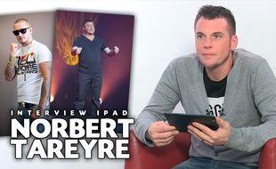 Le cuisinier Norbert Tarayre en interview dans le studio de «20 Minutes», le 29 janvier 2014.