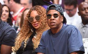 Beyoncé et Jay-Z le 30 avril 2017 à Los Angeles.