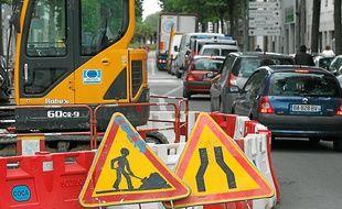 Perturbée par de multiples travaux, l'île de Nantes ralentit le trafic au sud.