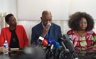 La famille de Naomi Musenga,le 10/05/2018. / AFP PHOTO / FREDERICK FLORIN