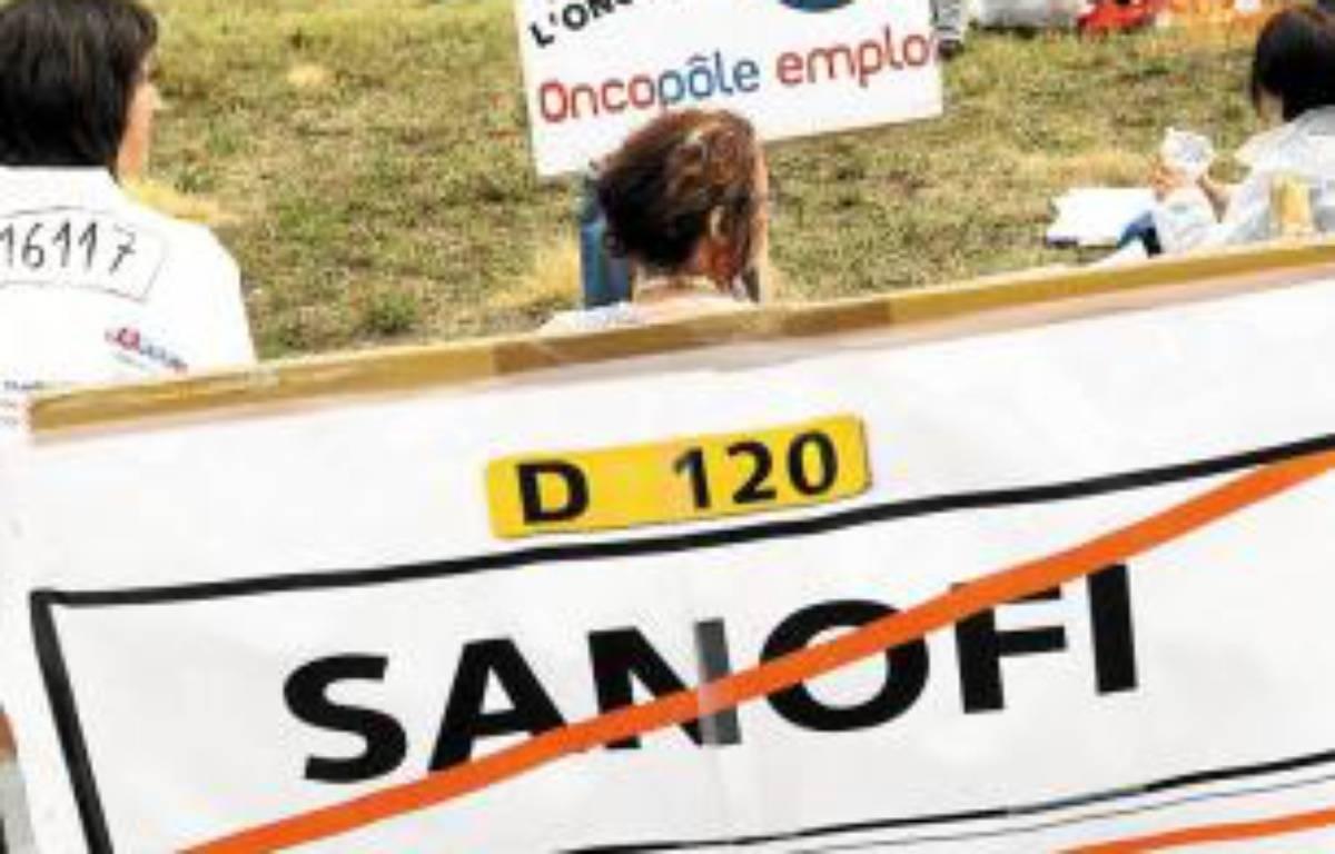 200 salariés de Sanofi ont manifesté route d'Espagne jeudi midi. –  f . scheiber / 20 minutes