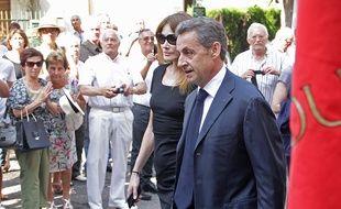 L'ancien président de la République et son épouse Carla Bruni-Sarkozy