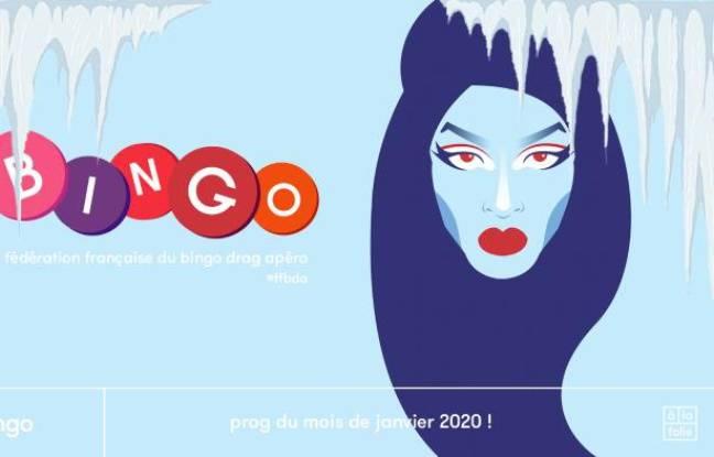 Visuel de l'apéro Bingo de la fédération française du bingo drag
