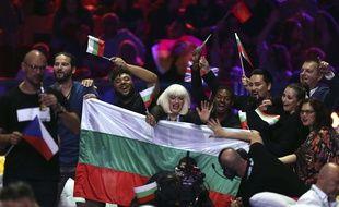 La délégation bulgare dans la «green room» de l'Eurovision, à Lisbonne, le 8 mai 2018.