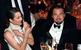 Marion Cotillard et Léonardo DiCaprio au gala de l'Amfar le 22 mai 2014.
