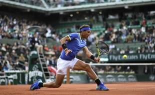 Rafael Nadal, sur le Court Philippe Chatrier, en 2017