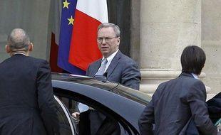 Le PDG de Google Eric Schmidt à l'Elysée le 29 octobre 2012.