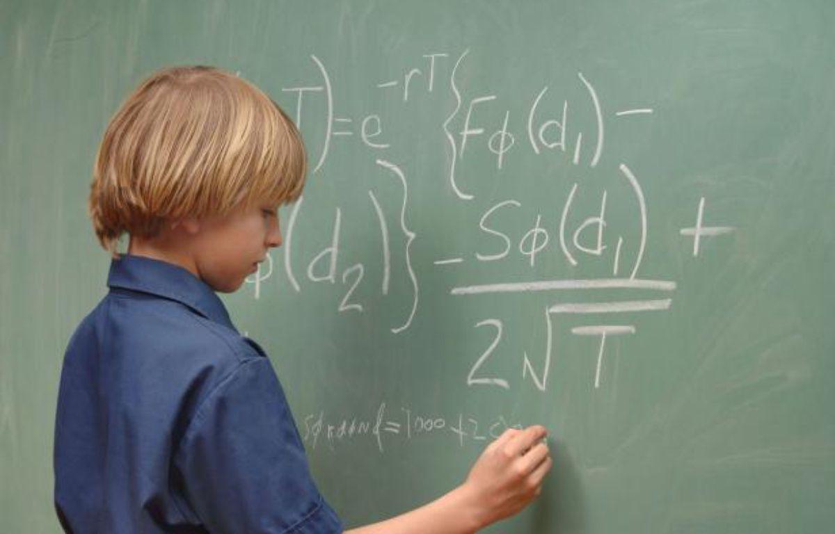 Un garçon de neuf ans résout une équation de mathématiques – SUPERSTOCK/SUPERSTOCK/SIPA