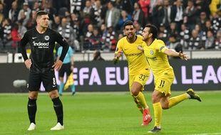 Pedro (à droite) est impliqué dans 8 des 12 buts de Chelsea en Ligue Europa.