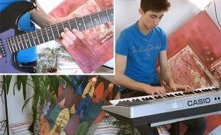Un jeune musicien polyvalent reprend la chanson «Est-ce par hasard?» de Dave.