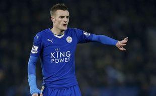 Jamie Vardy, le 14 décembre 2015 avec Leicester.