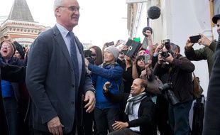 Claudio Ranieri, l'entraîneur de Leicester, le 3 mai 2016.
