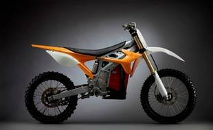 Capture d'écran du  site www.faster-faster.com montrant une moto RedShift MX.