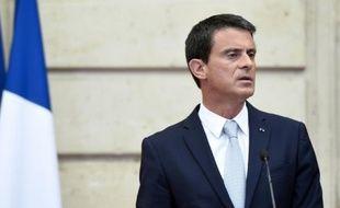 Le Premier ministre Manuel Valls à l'Elysée, le 22 juillet 2015