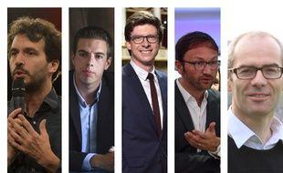 Bastien Lachaud (France Insoumise), Ludovic Pajot (Front national), Pierre-Henri Dumont (Les Républicains), Patrick Mignola (MoDem), Yannick Kerlogot (La République en marche)