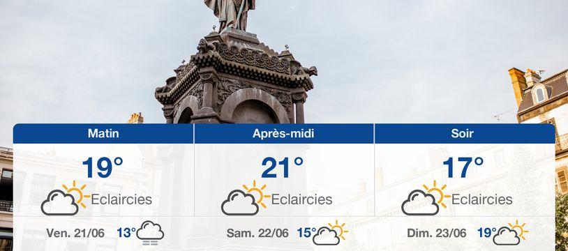 Météo Clermont-Ferrand: Prévisions du jeudi 20 juin 2019