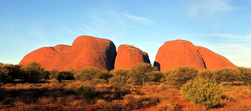 Le parc d'Uluru en Australie, illustration
