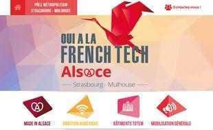 La candidature French Tech Alsace.