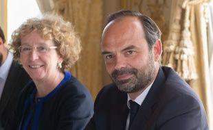 La ministre du Travail Muriel Pénicaud et le Premier ministre Edouard Philippe à Matignon le 31 mai 2017.