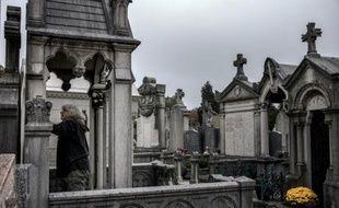 Illustration d'un cimetière lyonnais