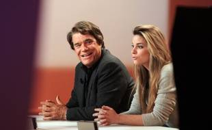 En 2008, sur le plateau de Canal +, père et fille affichent déjà leur belle complicité.