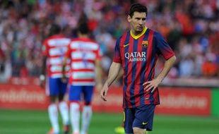 L'Argentin Lionel Messi lors de la défaite de Barcelone à Grenade, le 1é avril 2014.