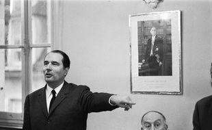 François Mitterrand lors d'un meeting du Parti Socialiste en juin 1968