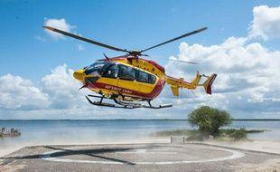 L'hélicoptère Dragon 33, de la sécurité civile de Gironde